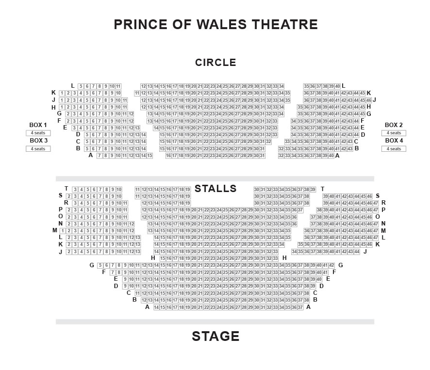 Prince of wales theatre seating plan prince of wales theatre